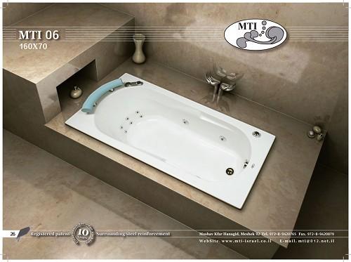 אמבטיה אקרילית מלבנית 160X70