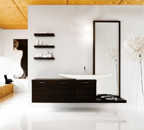 רהיט 54/220 – כולל מראה, כיור, מדפים, מנורה וברז
