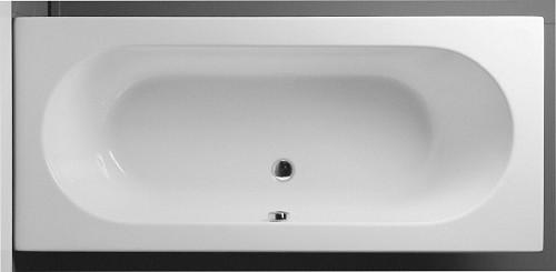 אמבטיה אקרילית מלבנית 180/80 (ניקוז באמצע) תוצרת VITRA