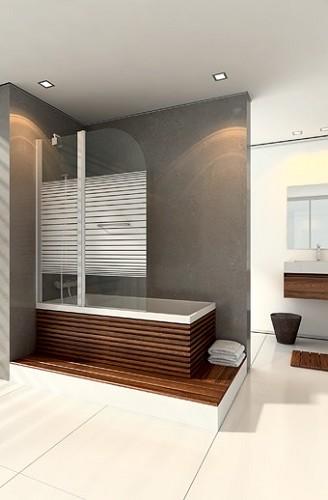 אמבטיון עם דופן קבועה ודלת