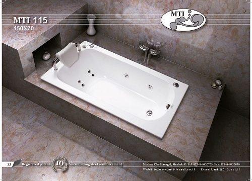 אמבטיה מלבנית אקרילית 150X70