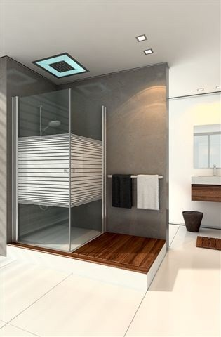 """מקלחון מרובע – 80*80 – רק 590 ש""""ח (זכוכית שקופה או צרובת פסים)"""