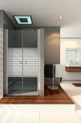 חזית מקלחון מורכב משתי דלתות