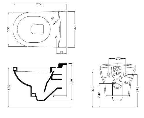 מפוארת אסלה תלויה דגם גאלרי כולל מושב - סמרה IT-28