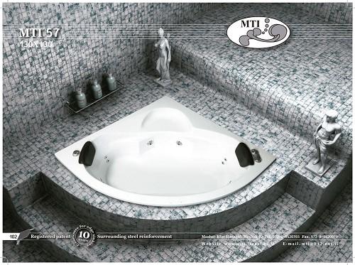 אמבטיה אקרילית פינתית 130X130