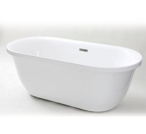 אמבטיה אקרילית מעוצבת פריסטנד אובלית כולל אביק – לבן