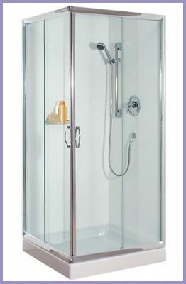 מקלחון מרובע 80×80 פרופיל ניקל