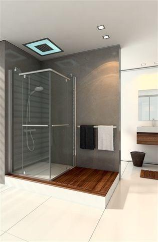 """מקלחון מרובע 80/90 מראה נקי 8 מ""""מ"""