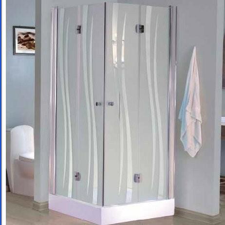 """מקלחון פינתי 76/78, 86/88 ס""""מ מרובע – 2 דלתות מתקפלות על ציר"""