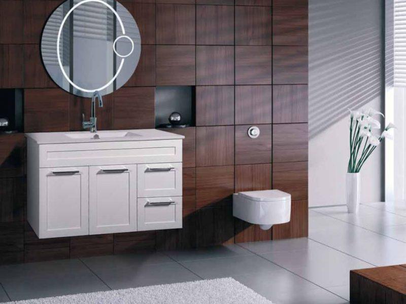 ארון דלתות תלוי דגם אמיר – בשילוב מגירות צבע אפוקסי