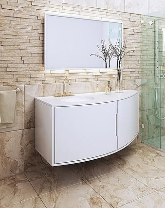 """ארון אמבטיה איטלקי מעוצב 122 ס""""מ"""