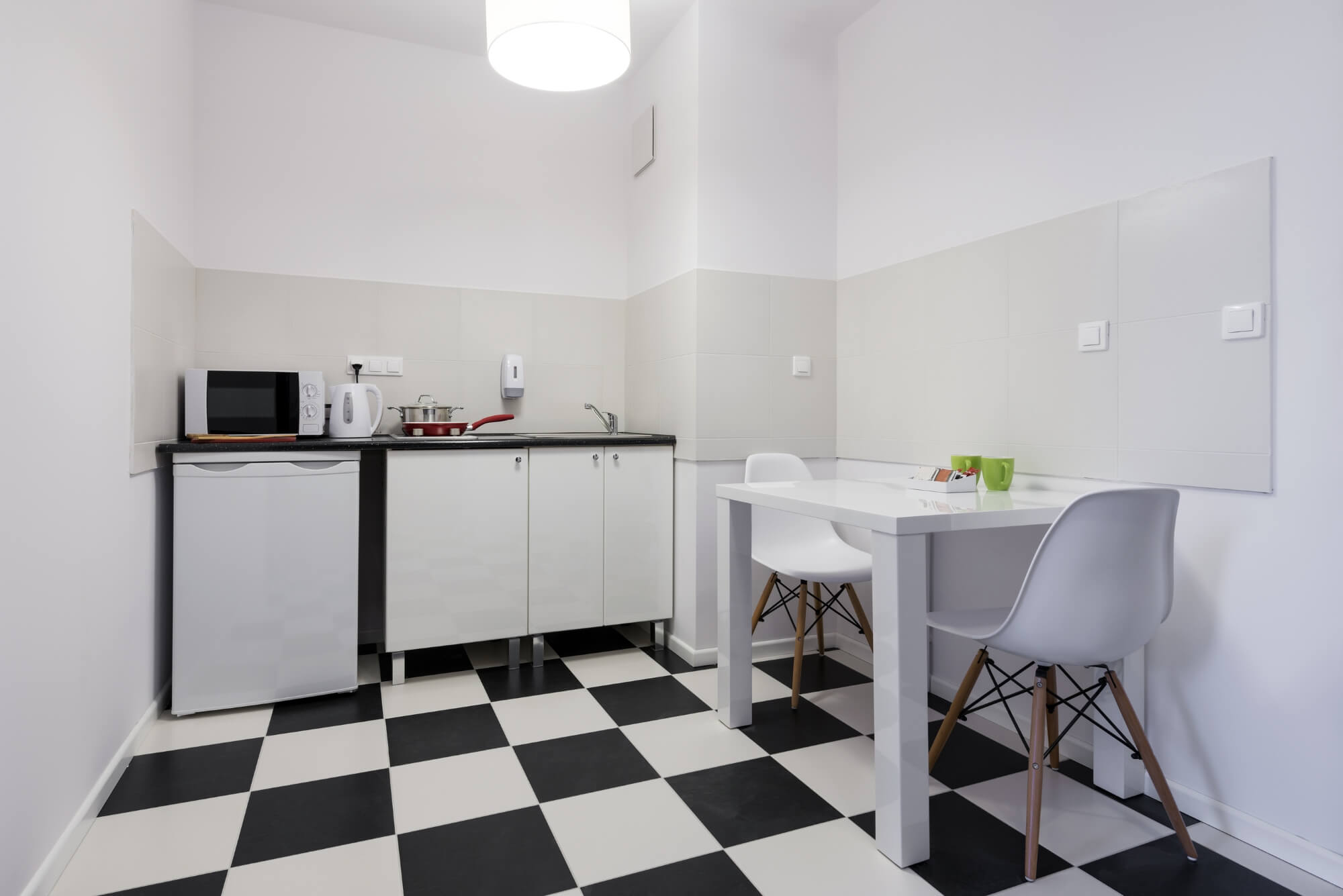 White-And-Black-Small-Kitchen