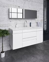 ארון אמבטיה משולב דגם לילך – משטח חרס אינטגרלי – טריקה שקטה