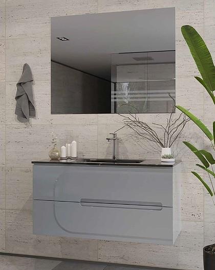 ארון אמבטיה מגוף סנדוויץ משובח עם טריקה שקטה במגוון צבעים – מידות רוחב: 60/70/75/80/90/100/110/120