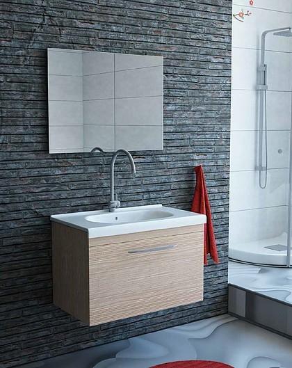 """ארון אמבטיה תלוי עם כיור תואם מצופה פורמייקה – טריקה שקטה – מידות 80/100 ס""""מ בצבע לבן או שמפניה"""