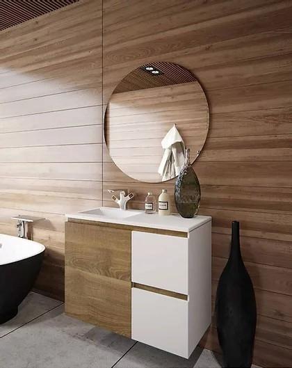 ארון אמבטיה מעוצב עם משטח אקרילי במידות שונות – צבע אפוקסי – טריקה שקטה