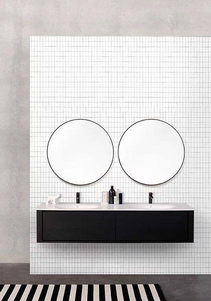 """ארון אמבטיה מעץ אורן מלא עם כיור קוריאן מקורי – מידות 90/120/140/185 ס""""מ"""